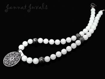 White Silver pendant necklace