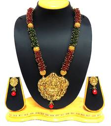 Buy Traditional Temple Laxmi pendant Necklace Set For Women Jewellery necklace-set online