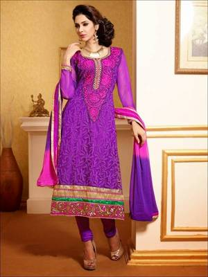 Melodic Purple Suit with Dupatta-TBSUPRINC3007