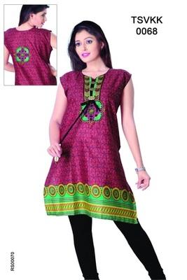 Triveni Fancy Casual Wear  Summer Cotton Kurti 0068
