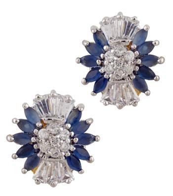 Blue & White Flora-dise Earrings