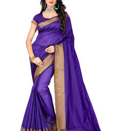 Buy purple woven banarasi silk saree With Blouse below-500 online