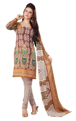 Triveni Charming Brown Colored Casual Wear Indian Traditional Salwar Kameez