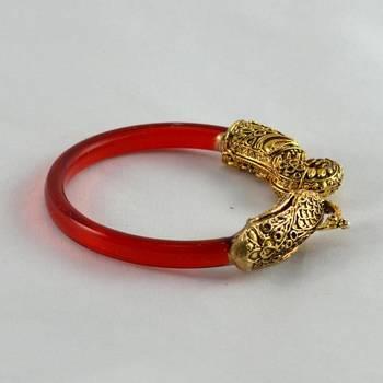 Fab stretchable bangles kara trans red
