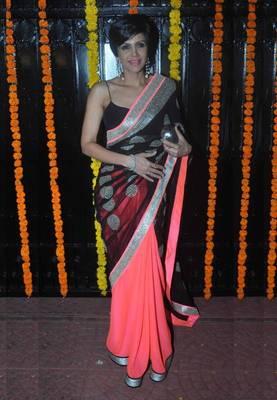 Mandira Bedi Black Beauty Bollywood Replica Saree