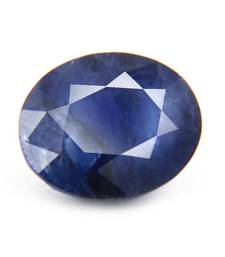 Buy 7.25 carat natural blue sapphire (neelam) gemstone with lab certified loose-gemstone online