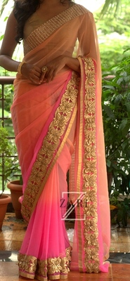 georgette saree by fabkaz (baby pink)