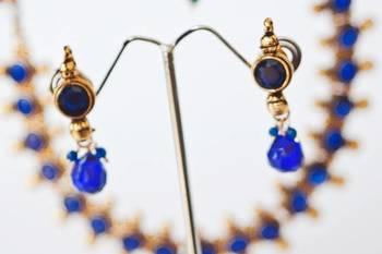 Royal blue round gold - nkf1402b