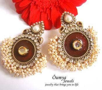 Red Maharani earrings