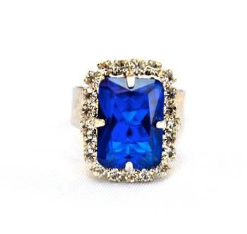Blue Diamond Cocktail Ring