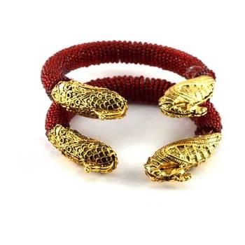 Classy meenakari moti stretchable bangles