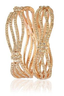 2 piece curvy broad cz bangle 1177