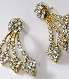 Buy Golden Square Shape Stone Kaan Earring ear-cuff online