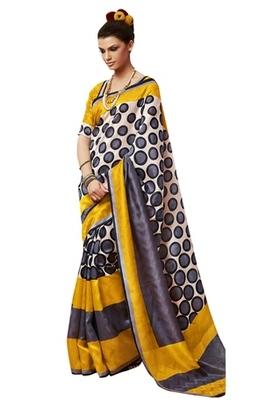 Triveni Amazing Multi Indian Traditional Bhagalpuri Silk Printed Saree TSVD19028