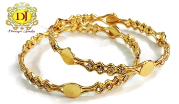 Designer bangles with CZ stones