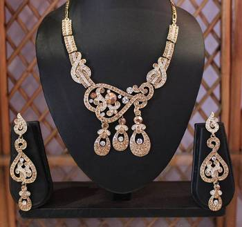 Silver and Golden three Pendant Necklace set