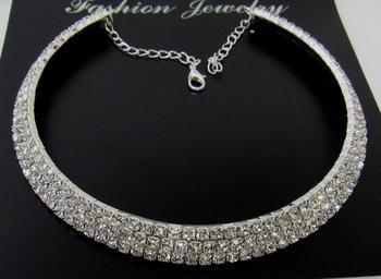 Lovely stone silver kada necklace