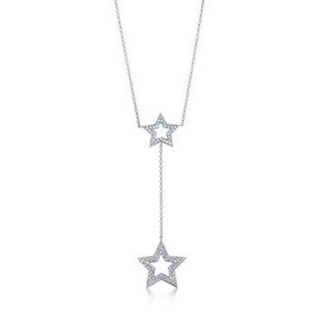 Cara sterling silver and  certified Swarovski stone Star pendant