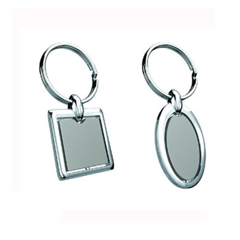 Cara sterling silver and  certified Swarovski stone Round and Square matching silver key chains