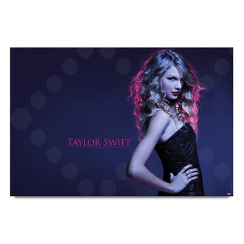 Taylor Swift In Black Poster