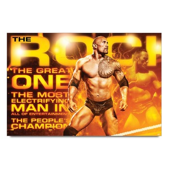 The Rock Wwe Poster