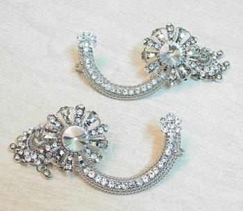 Beautiful light weight ethnic oxidized silver KAANPHOOL EARRING