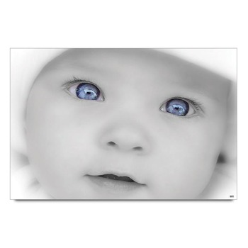 Baby With Blue Eyes Poster