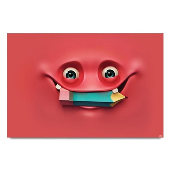 Pink Smiley Poster
