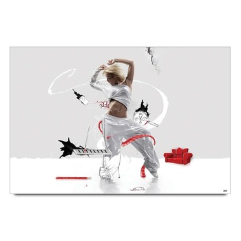 Dancing Girl Graphic Art Poster