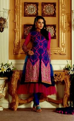 Hypnotex Pink Silk Dress Materials