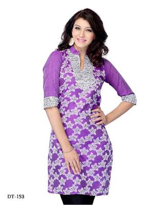 Casual/Office wear Kurti made from Jacquard by DIVA FASHION-Surat