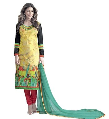 Triveni Fashionable Foliage Patterned Salwar Kameez TSAYSPVSK14008