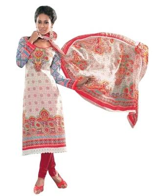 Triveni Smart Floral Printed Cotton Salwar Kameez TSXITSK7603