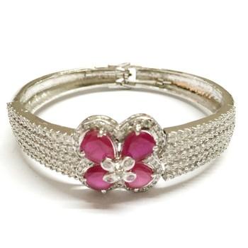 Craftstages AD Work Designer Bracelet With Rani Pink Ruby Stone