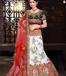 Buy Resplendent off white embroidered lehenga choli navratri-lehenga-chaniya-choli online
