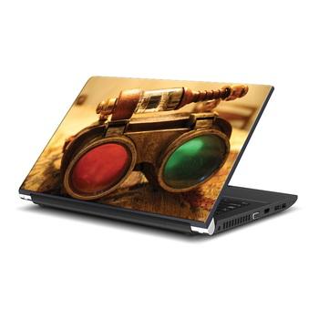 Red & Green Binoculars Laptop Skin