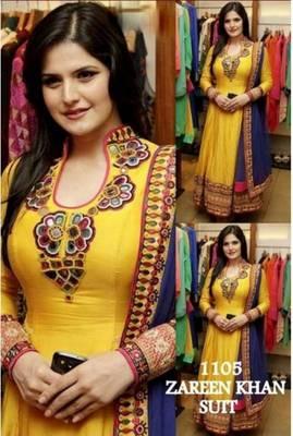 Zarine khan yellow dress