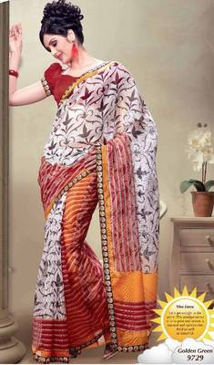 Super Net Exclusive Printed Saree