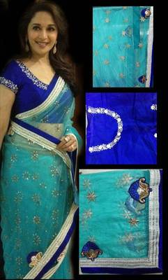 Madhuri dixit in blue
