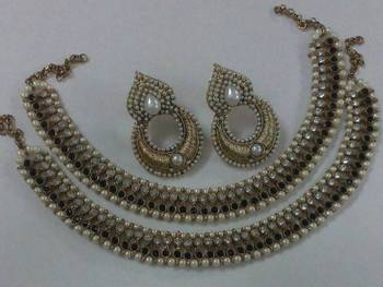 Designer Earings with Traditional Anklets