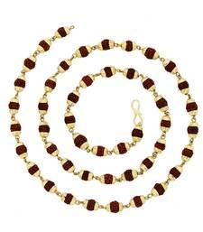 Buy BeBold Gold Brass Gold Plated Link Rudraksha Mala Chain for Boys and Men Other online