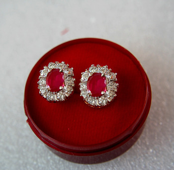 Designer AD Earrings with Ruby