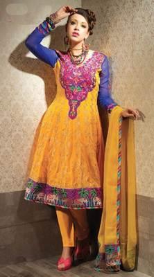 Yellow Salwar Kameez Churidar Dress Material SCA3446