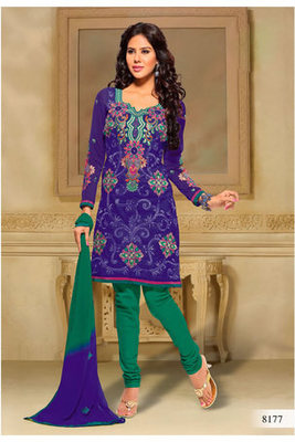 Casual Wear Violet Dress Material