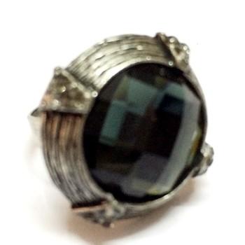 Craftstages Oxodise Black stone Fashion Ring