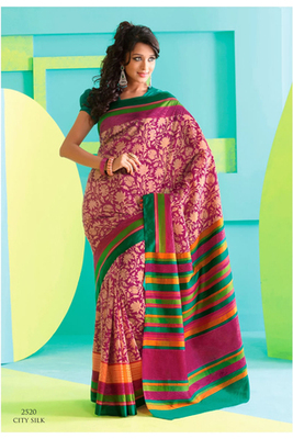 Gorgeous Magenta Raw Silk Saree
