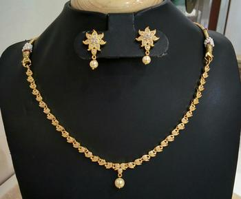 Georgeous high gold plated necklace set