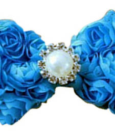 Buy Shop Online Violet Infant Girl Headband with Floral Bow and Diamond Motif hair-accessory online