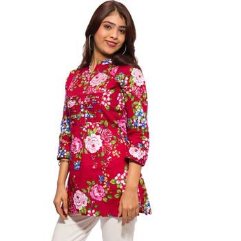 hvm Kurta with Belt-Red