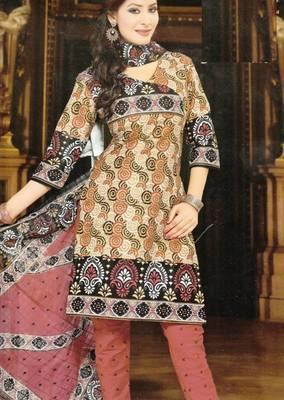 Dress material cotton designer prints unstitched salwar kameez suit d.no NZ2018